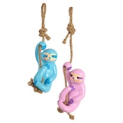 Hanging Sloth  (Pack Of 6) Decoration