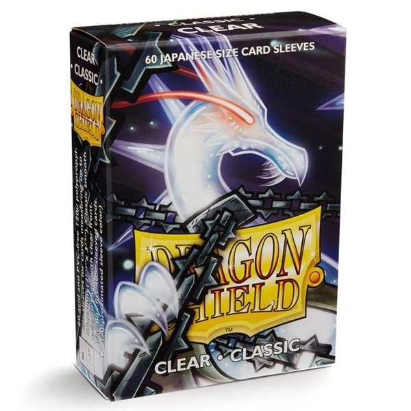 Dragon Shield Japanese Size Clear Card Sleeves - 60 Sleeves