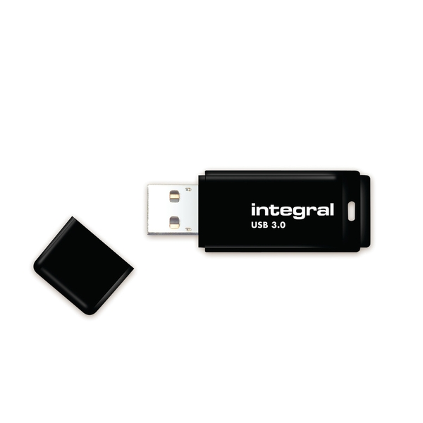 Integral 128GB USB3.0 Memory Flash Drive (Memory Stick) Black