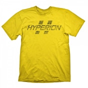 Borderlands Hyperion Logo Mens Small Yellow T-Shirt