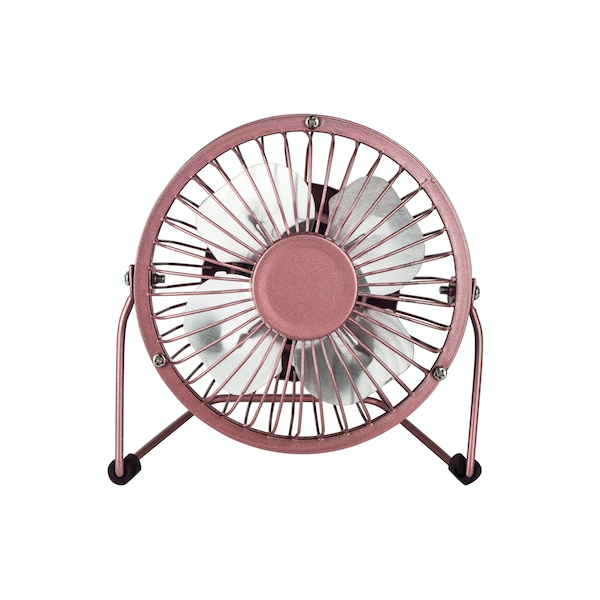 Status 4inch Mini USB Powered Desk Fan - Rose Gold Finish