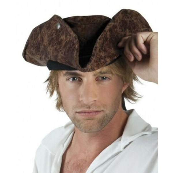 Pirate Neptune Adult Hat One Size (Brown)