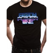 Ready Player One - Neon Logo Men's Medium T-Shirt - Black