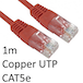 RJ45 (M) to RJ45 (M) CAT5e 1m Red OEM Moulded Boot Copper UTP Network Cable - Image 2