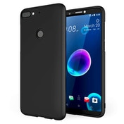 CASEFLEX HTC DESIRE 12 PLUS MATTE TPU GEL - SOLID BLACK