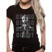 Guardians Of The Galaxy 2 - Groot Photo Women's X-Large T-Shirt - Black