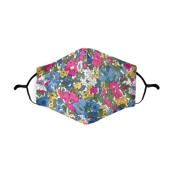 Ditsy Floral Sky Printed 100% Cotton Face Mask