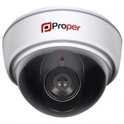 Proper Imitation Dummy Dome Camera with LED Flashing Light White