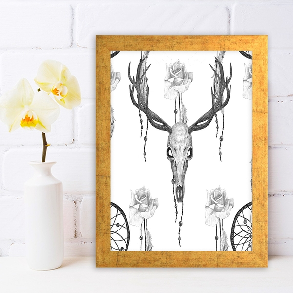 AC304552832 Multicolor Decorative Framed MDF Painting