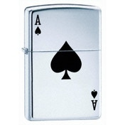 Zippo Lucky Ace High Polish Chrome Windproof Lighter