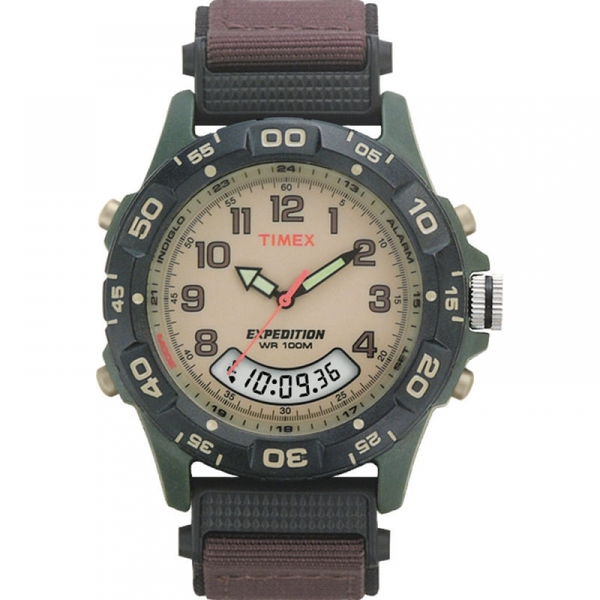 Timex T45181 Expedition Rugged Watch with Brown Nylon Strap