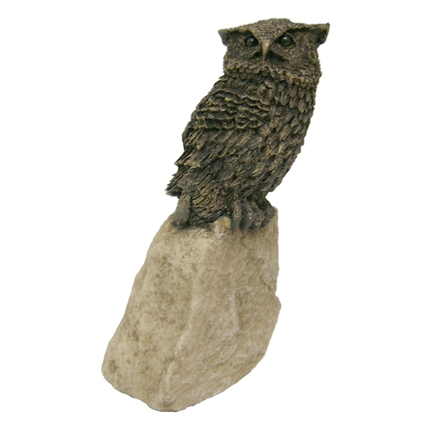 Stoned On Nature Owl Cold Cast Bronze Sculpture