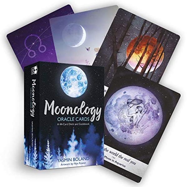 Moonology Oracle Cards: A 44-Card Deck and Guidebook by Yasmin Boland (2018)