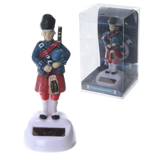 Novelty Scottish Piper Solar Powered Pal