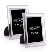 "Glass Photo Frames - Set of 2 | M&W 3.5"" x 5"""