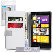 YouSave Accessories Nokia Lumia 1020 Leather-Effect Wallet Case - White