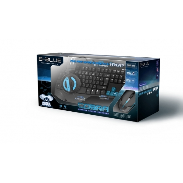 E-blue Gaming Combo Headset Keyboard & Mouse in Blue