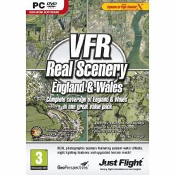 VFR Real Scenery England and Wales Game PC