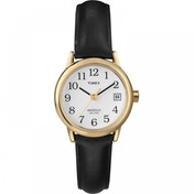 Timex T2H341 Womens Easy Reader Date Watch Black/Gold