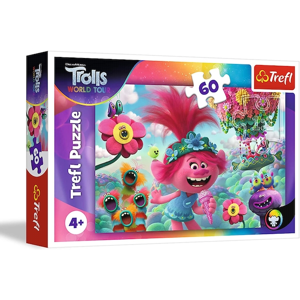 Trolls In The World Of Music Jigsaw Puzzle - 60 Pieces