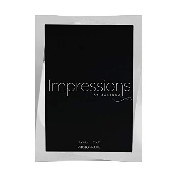 """5"""" x 7"""" - Impressions Silver Plated Twisted Photo Frame"""