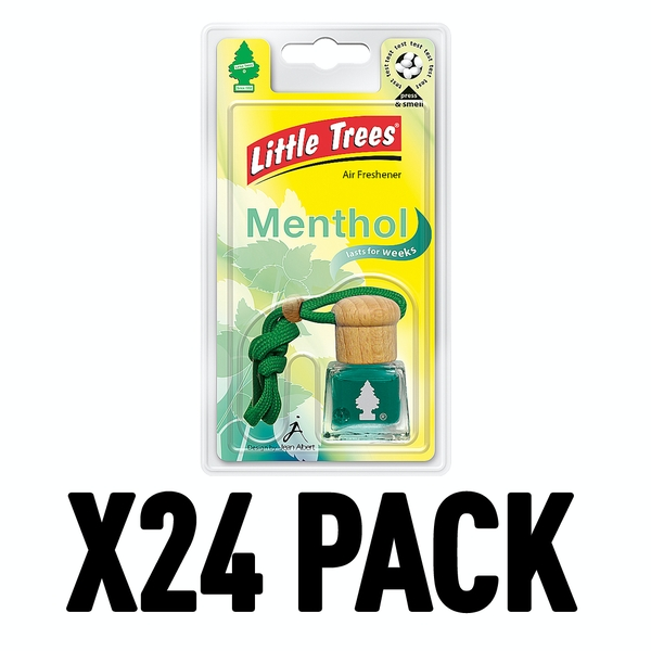 Menthol (Pack Of 24) Little Trees Bottle Air Freshener