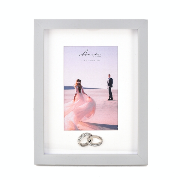 """Amore Plastic Photo Frame with Rings Icon - 4"""" x 6"""""""