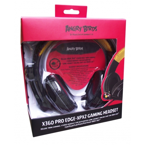 Angry Birds Deluxe Twin Channel Headset Xbox 360