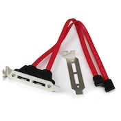 StarTech 2 Port Low Profile SATA to eSATA Plate Adapter