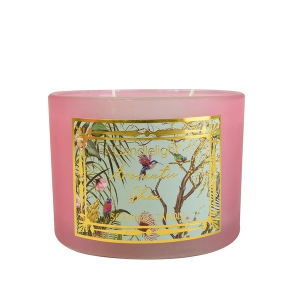 Chinoiserie 2 Wick Wax Filled Candle Pot Aromatic Shea Scent
