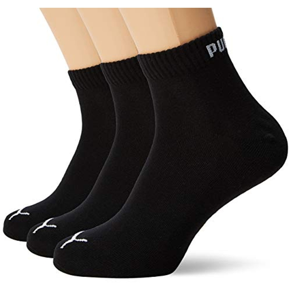 Puma Short Crew Unisex Sports Socks with Terry Sole Pack of 9, Unisex, black / red