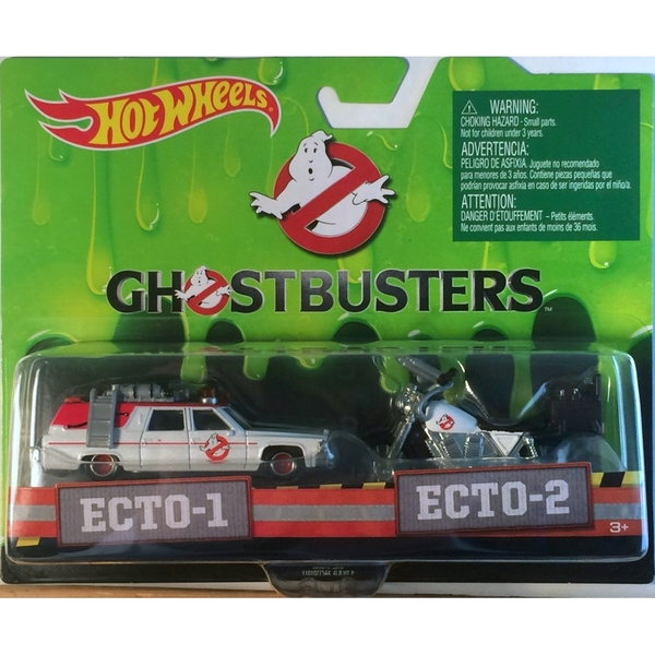 Hot Wheels Ghostbusters Ecto-1 Car And Ecto-2 Motorcycle Vehicle 2