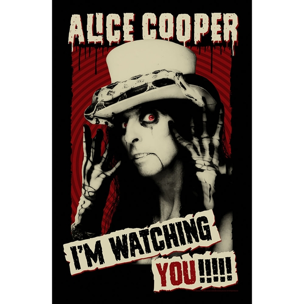 Alice Cooper - I'm Watching You Textile Poster