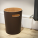 Wooden Waste Paper Bin | M&W Brown - Image 2