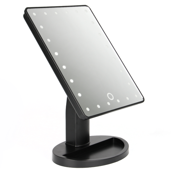 LED Light Up Illuminated Make Up Bathroom Mirror With Magnifier | M&W Black New - Image 8