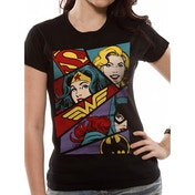 DC Originals - Heroine Art Women's Medium T-Shirt - Black