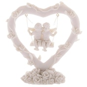 Cute Cherubs Floral Heart Swing