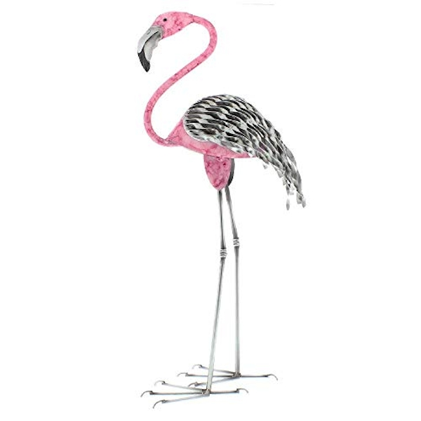 Country Living Hand Painted Metal Flamingo