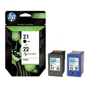 HP SD367AE (21 22) Printhead multi pack, 360 pages, 190pg   165 pg, Pack qty 2