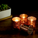 Set of 12 Speckled Tealight Candle Holders | M&W Rose Gold - Image 3
