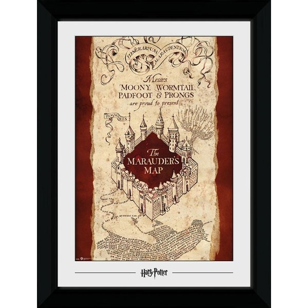 Harry Potter Marauders Map 50 x 70cm Collector Print
