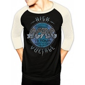 AC/DC - High Voltage Men's X-Large Baseball Shirt - Black