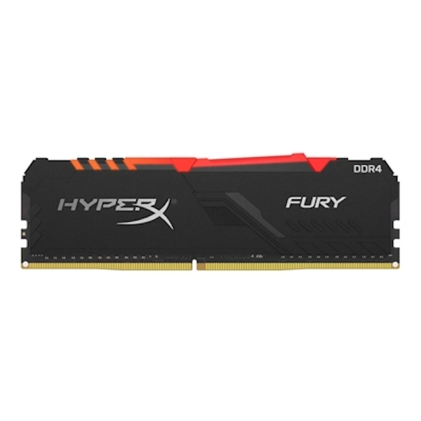 Kingston HyperX Fury RGB 16GB Black Heatsink (1x16GB) DDR4 3200MHz DIMM System Memory HX432C16FB3A/16