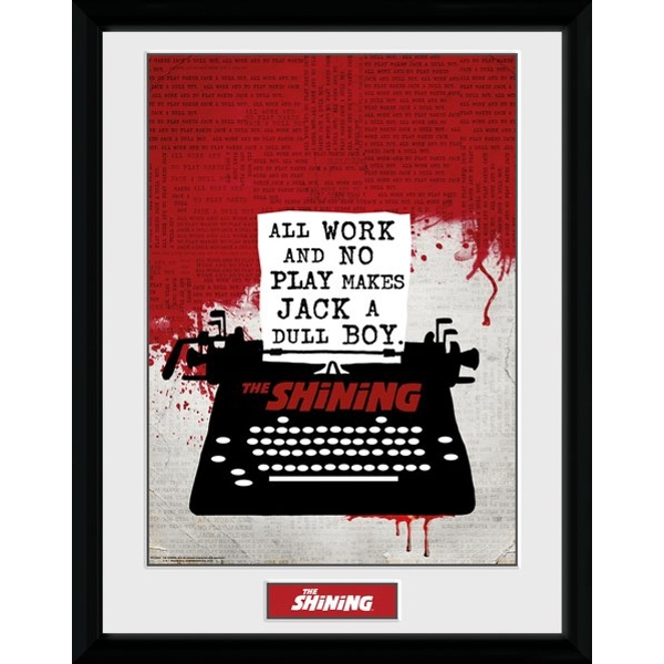 The Shining All Work And No Play Framed Collector Print