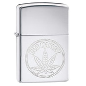 Zippo BOB Marley Weed Stamp Chrome Regular Windproof Lighter