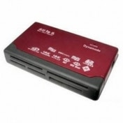 Dynamode 6 Slot USB Multi Card Reader Red