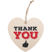 Thank You Hanging Heart Sign