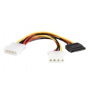 6in LP4 to LP4 SATA Power Y Cable Adapter