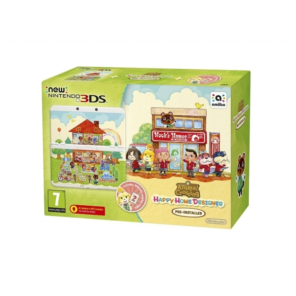 New 3DS Animal Crossing Happy Home Designer Console + Coverplate + Amiibo Card - 365games.co.uk