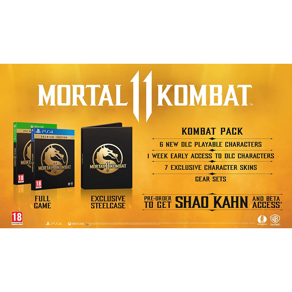 Mortal Kombat 11 Premium Edition PS4 Game (with Shao Kahn DLC)